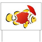 Christmas Clownfish Yard Sign
