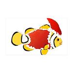 Christmas Clownfish Wall Decal