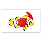 Christmas Clownfish Sticker
