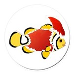 Christmas Clownfish Round Car Magnet