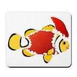 Christmas Clownfish Mousepad