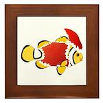 Christmas Clownfish Framed Tile