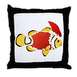 Christmas Clownfish Throw Pillow
