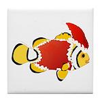Christmas Clownfish Tile Coaster