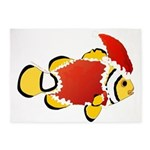Christmas Clownfish 5'x7'Area Rug