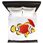Christmas Clownfish King Duvet