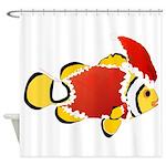Christmas Clownfish Shower Curtain