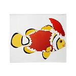 Christmas Clownfish Throw Blanket
