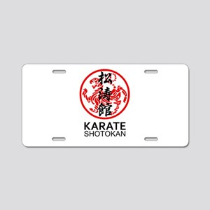 Shotokan Karate symbol and Aluminum License Plate