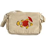 Christmas Clownfish Messenger Bag