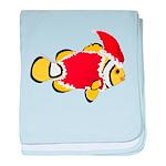 Christmas Clownfish baby blanket