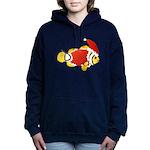 Christmas Clownfish Women's Hooded Sweatshirt