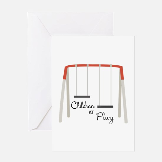 Swing Set Greeting Cards