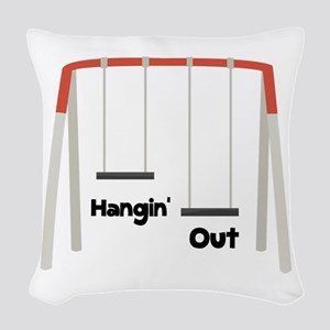 Hangin Out Woven Throw Pillow