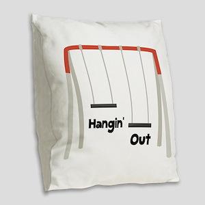 Hangin Out Burlap Throw Pillow