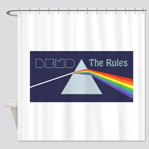 Bend The Rules Shower Curtain