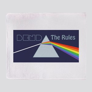 Bend The Rules Throw Blanket