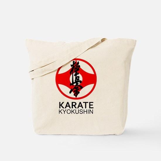 Kyokushin Karate Symbol and Kanji Tote Bag