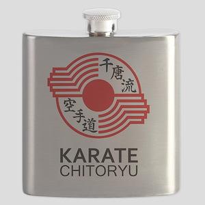 Chitoryu Karate Symbol and Kanji Flask