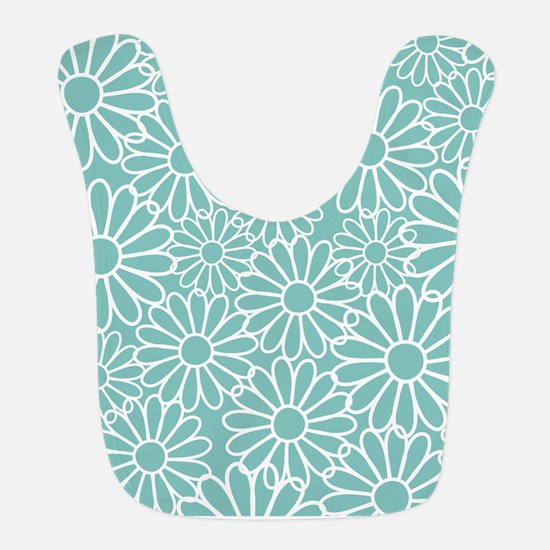 Flower Pattern Teal Bib