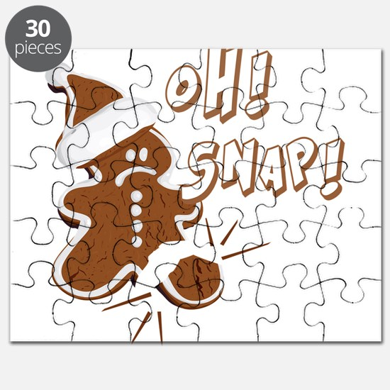 FUNNY OH Snap Gingerbread Man Puzzle