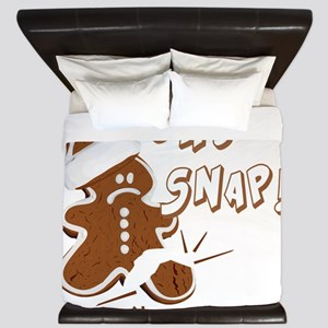 FUNNY OH Snap Gingerbread Man King Duvet