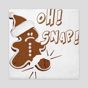 FUNNY OH Snap Gingerbread Man Queen Duvet