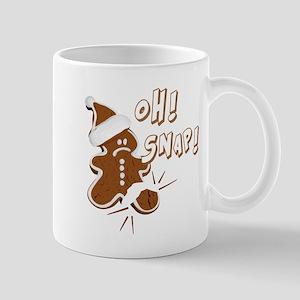 FUNNY OH Snap Gingerbread Man Mug
