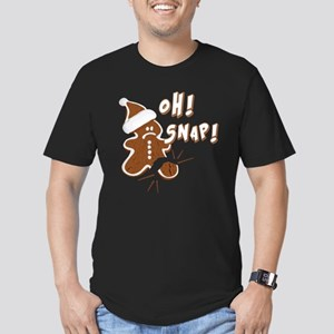 FUNNY OH Snap Gingerbr Men's Fitted T-Shirt (dark)