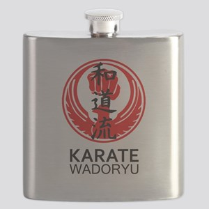 Wadoryu Karate Symbol and Kanji Flask