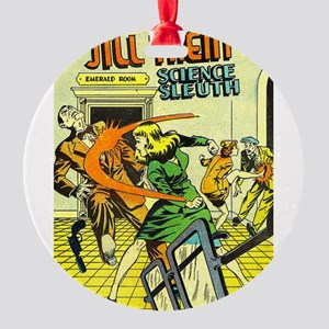Jill Trent: Science Sleuth Round Ornament