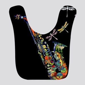Sax on black Bib