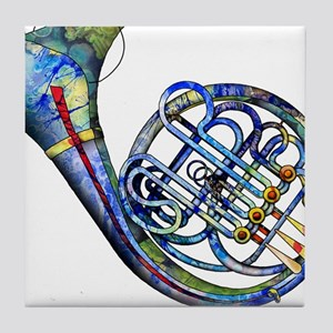 French Horn Tile Coaster