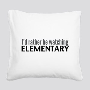 Elementary TV Square Canvas Pillow