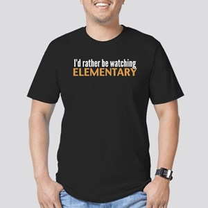 Elementary TV Men's Fitted T-Shirt (dark)