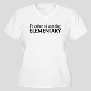 Elementary TV Women's Plus Size V-Neck T-Shirt