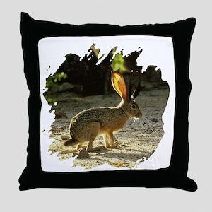 Texas Jackolope Throw Pillow