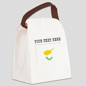 Custom Cyprus Flag Canvas Lunch Bag