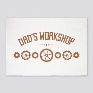 Dads Workshop 5'x7'Area Rug