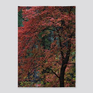 Fall Oak Tree 5'x7'Area Rug