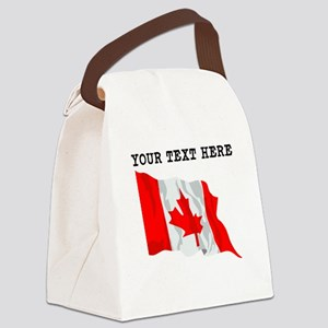 Custom Canada Flag Canvas Lunch Bag