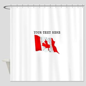 Custom Canada Flag Shower Curtain