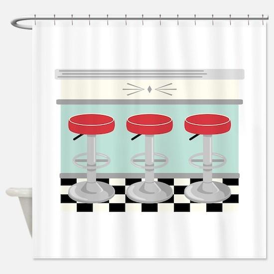 Barstool Seats Shower Curtain