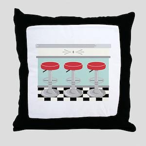Barstool Seats Throw Pillow