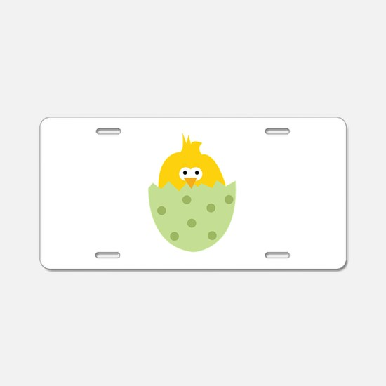 Easter Chick Aluminum License Plate