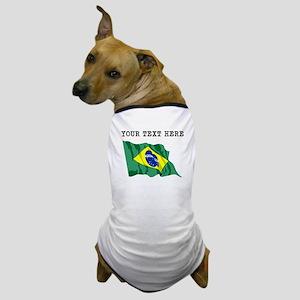 Custom Brazil Flag Dog T-Shirt