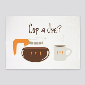Cup A Joe? 5'x7'Area Rug
