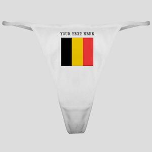 Custom Belgium Flag Classic Thong