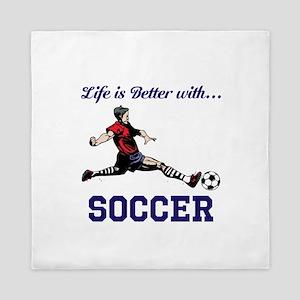 Better With Soccer Queen Duvet