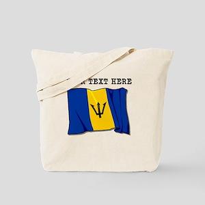 Custom Barbados Flag Tote Bag